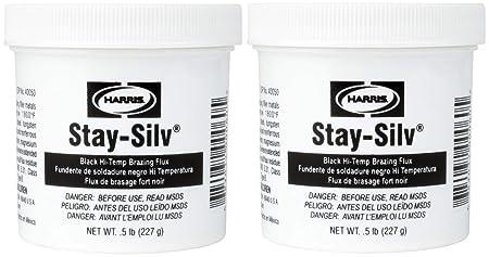 Harris SSBF1 Stay Silv Brazing Flux, 1 lb. Jar, Black: Amazon.com: Industrial & Scientific