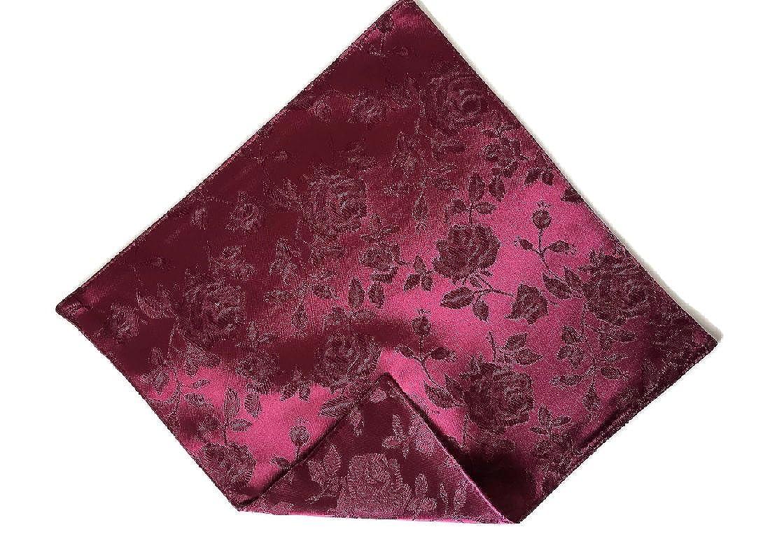 Men/'s Pocket Square Rose Satin Wedding /& Prom Handkerchief