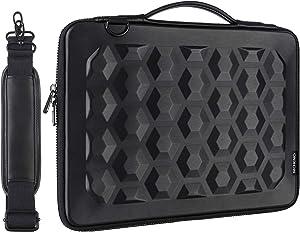 MCHENG 360 Protective Laptop Shoulder Bag for 15.6 Inch Acer Aspire 3/5/7 Laptop,HP Pavilion 15.6,ASUS ROG Zephyrus,Black
