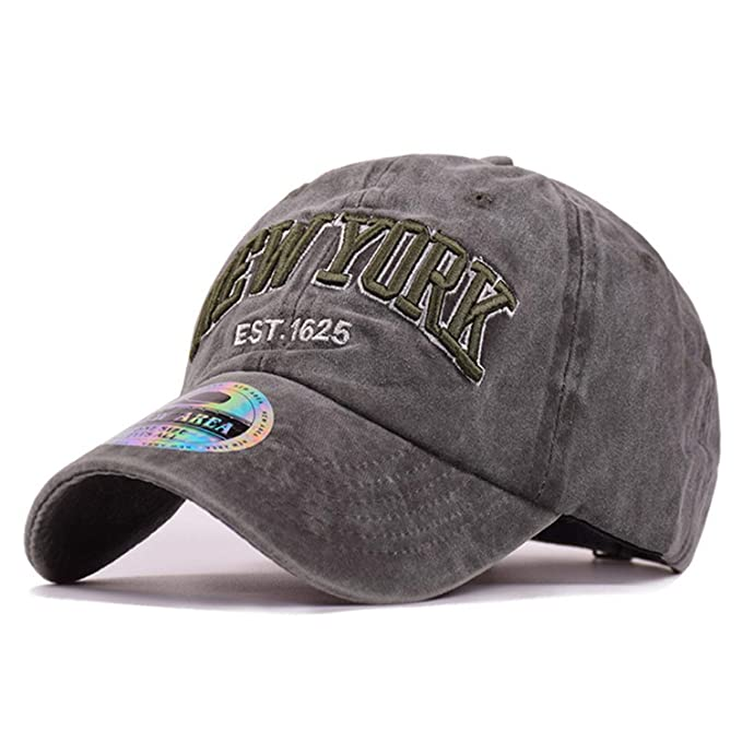 2019 Cotton New York Mens Baseball Cap Women Dad Hat Water Washed ... 39f721e3c