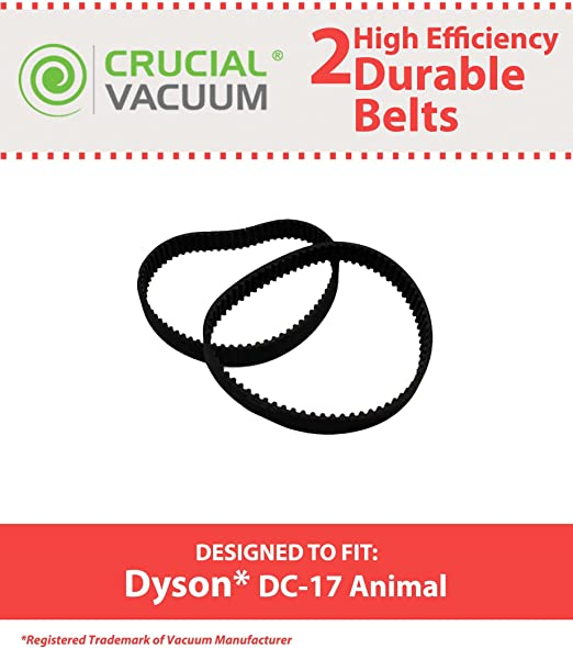 Amazon.com - Crucial Vacuum Replacement Vacuum Belts Compatible with Dyson  Part # 911710-01 & Models DC17, DC-17, 8MM, 8 MM, DC17 Animal Powerful Long  Lasting Vac Belts (2 Pack) - Household Vacuum Belts