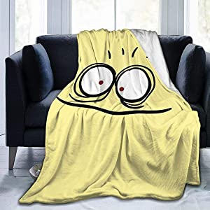 Andppk Cheese Face Foster's Home for Imaginary Friends Super Soft Sheep Blanket, Suitable for Adults Or Children's Sofa Or Bed