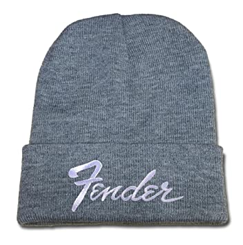 JXJ Fender Guitar Beanie Embroidery Beanies Hats Skull Caps  Amazon.co.uk   Sports   Outdoors a58e2bd4a880