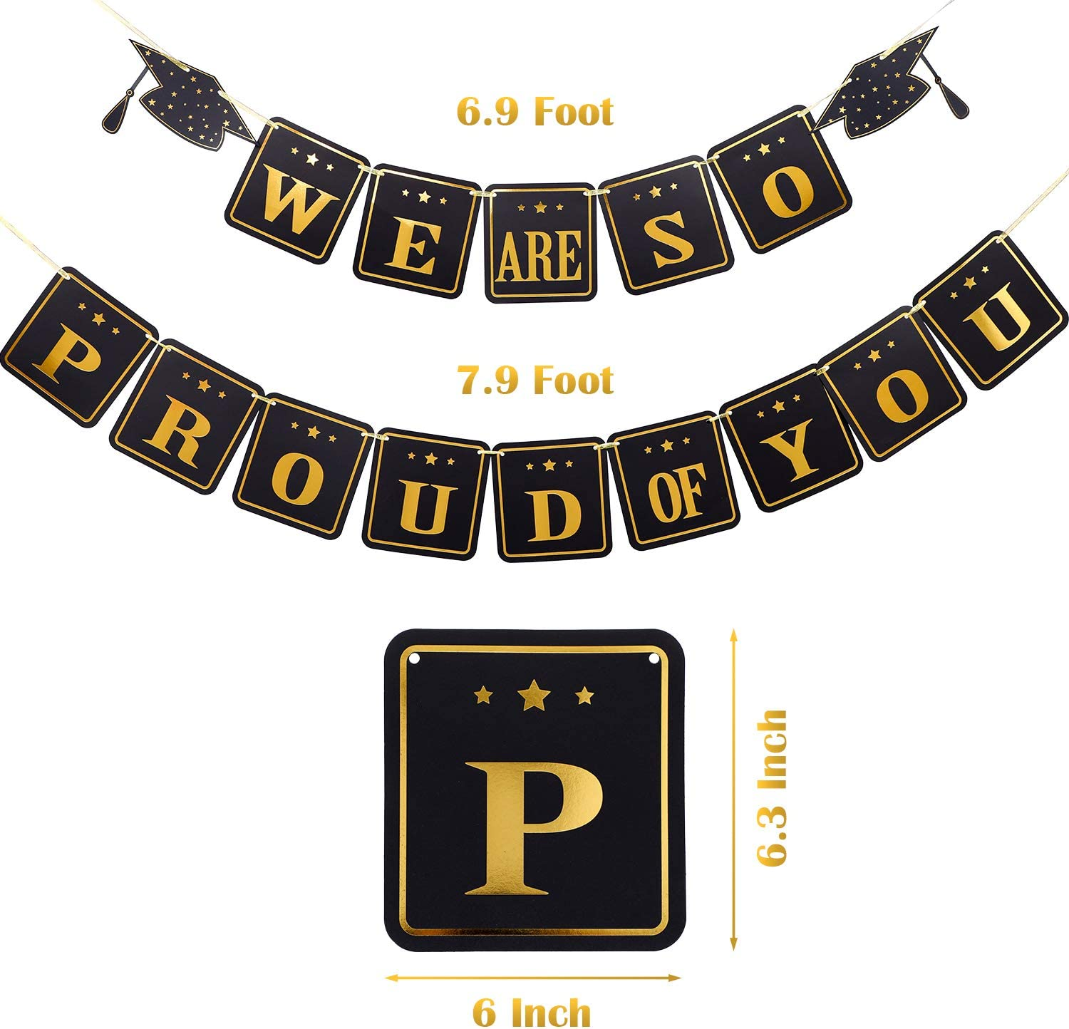 2020 Graduation Banner We Are So Proud of You Bunting Banner Graduation Party Supplies for Congratulations Grad Party Home Decorations