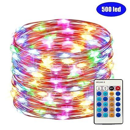 Amazon.com: fullbell 165 pies 500 luces LED alambre de cobre ...
