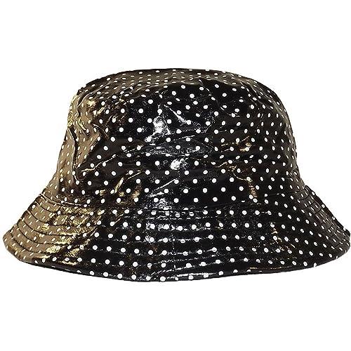 Chapeau-tendance–Cappello da pioggia, Nero con Pois Bianchi, daDonna