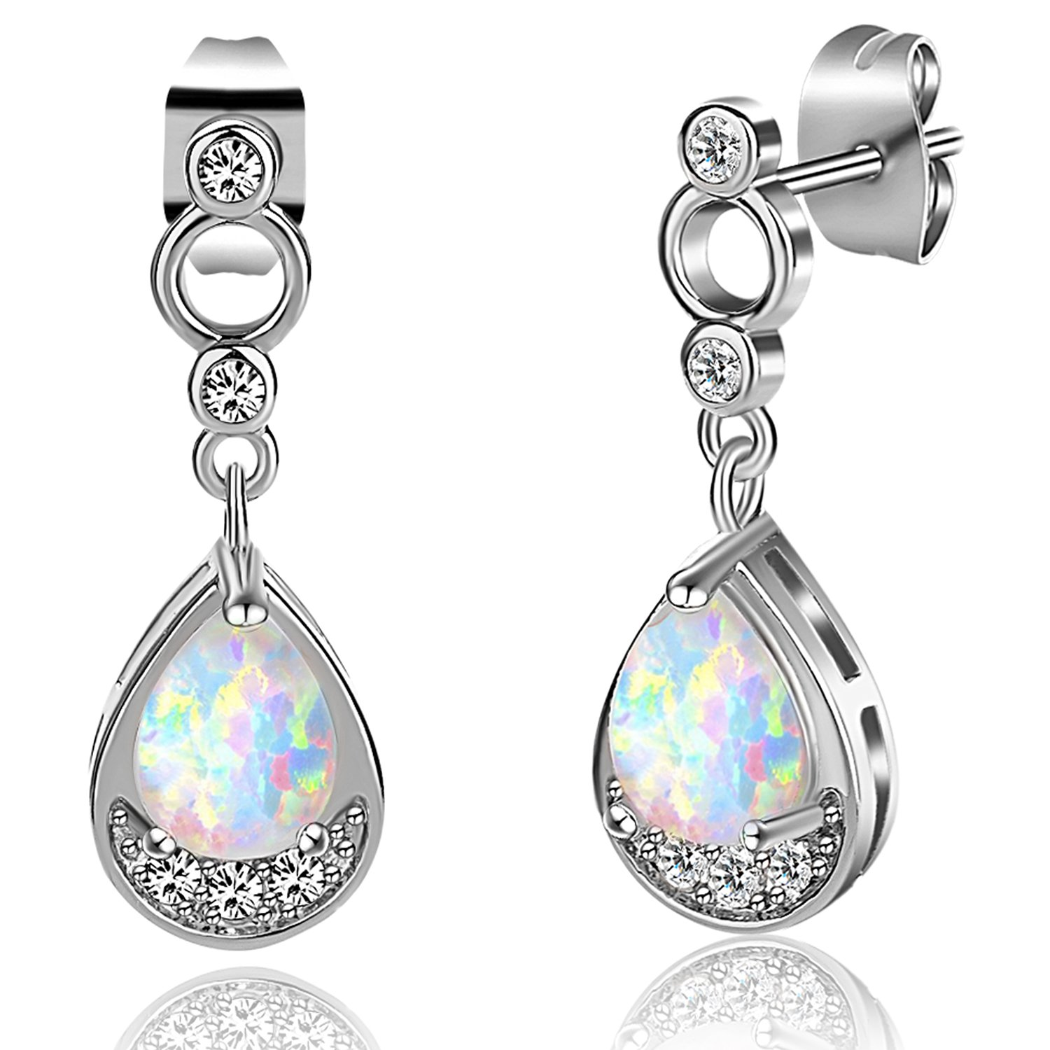 Amazon 18k Gold Plated Teardrop Opal Earrings For Women Girls