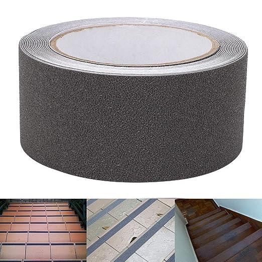 Cinta antideslizante para pisos, tira de seguridad antideslizante de escalera de piso de goma antideslizante de goma PEVA/PU de 5 m, cinta antideslizante para bañera y ducha resistente(gris): Amazon.es: Industria, empresas y