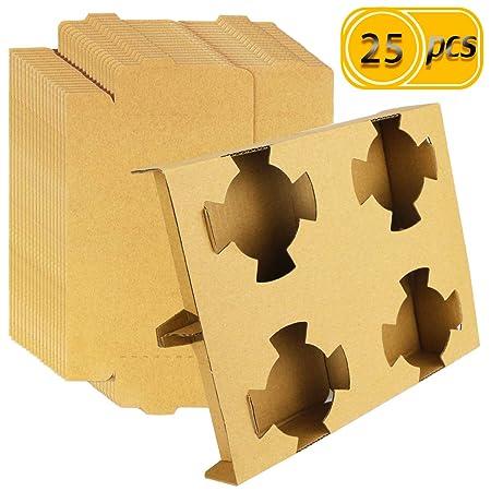 UPlama portavasos de papel kraft de 4 tazas, 25 unidades ...