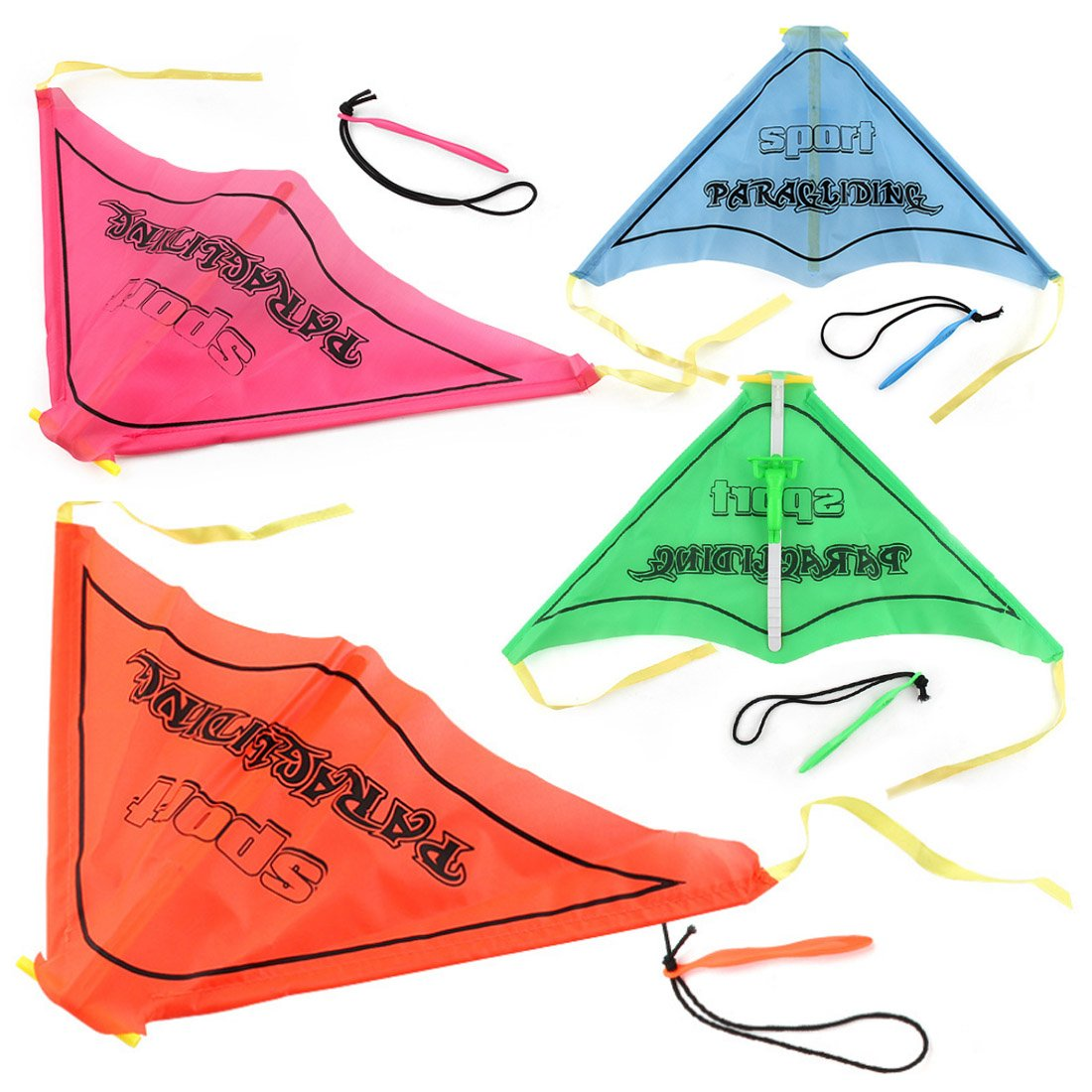 Paragliding Flying, Lingxuinfo 4PCS Kids Hand Glider Paragliding Toy Set Launch Outdoor Toy (Assorted Colors)