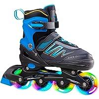 Hiboy Verstelbare inline skates met alle verlichte wielen, verlichte outdoor- en indoor-rolschaatsen voor jongens…