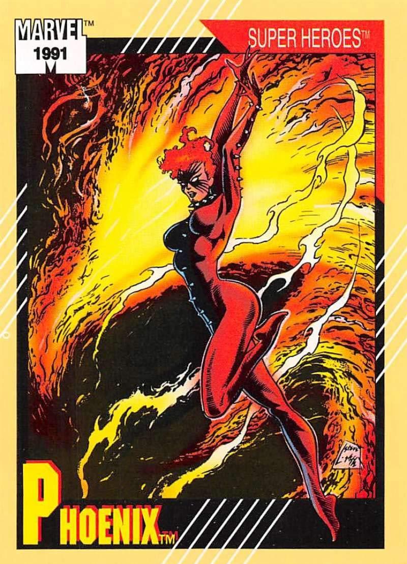 1991 Impel Marvel Universe Trading Card #5 Phoenix COND Officila Marvel Character Card
