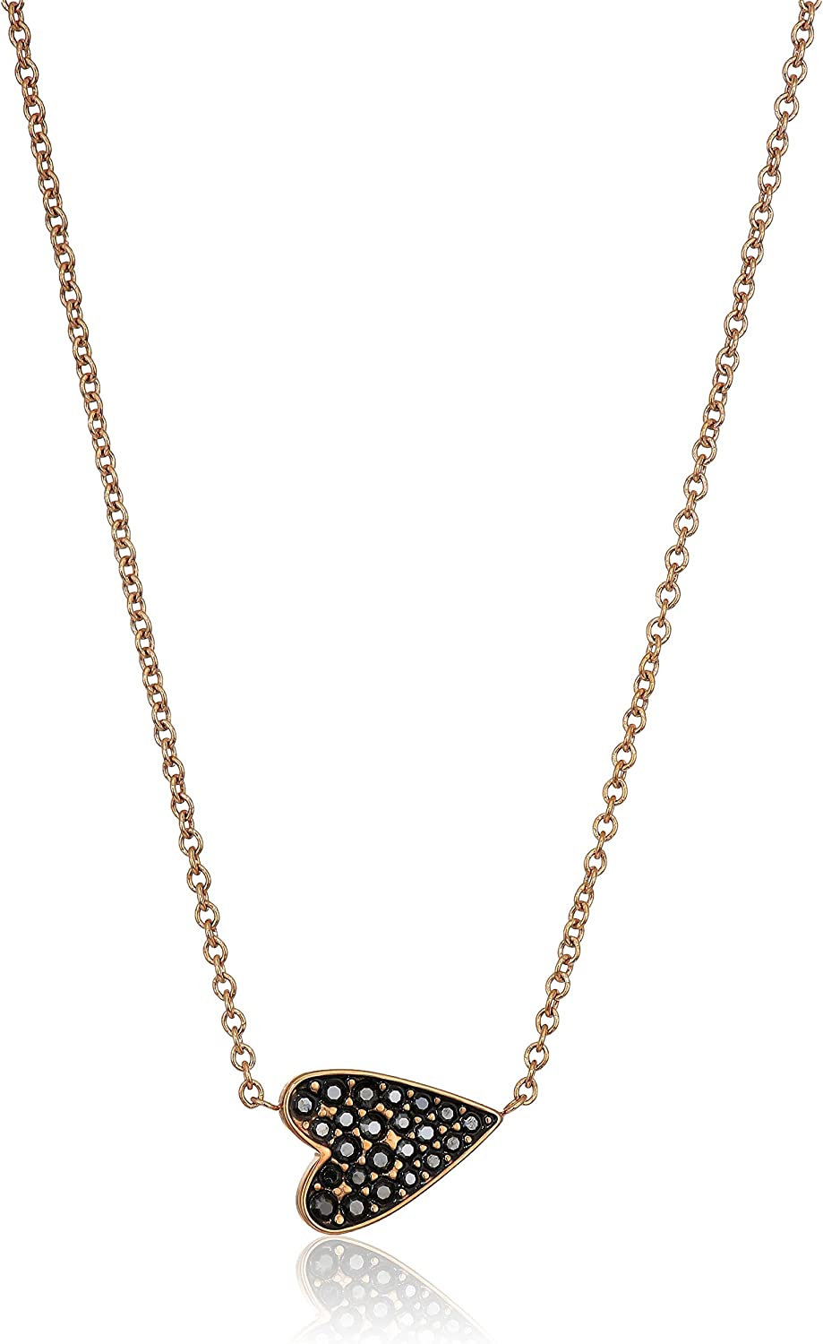 Fossil Womens Vintage Glitz Black Glits Necklace