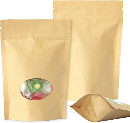 Details about  /100pcs Brown Kraft Paper Bags Protective Isolation Seed Packaging Bags OL  ZJA