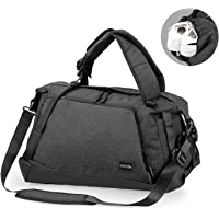 OUTLIFE Foldable Gym Bag Sports Duffel Bag Luggage Bag Travel Backpack Weekender Wet Pocket & Shoes Compartment for Men and Women