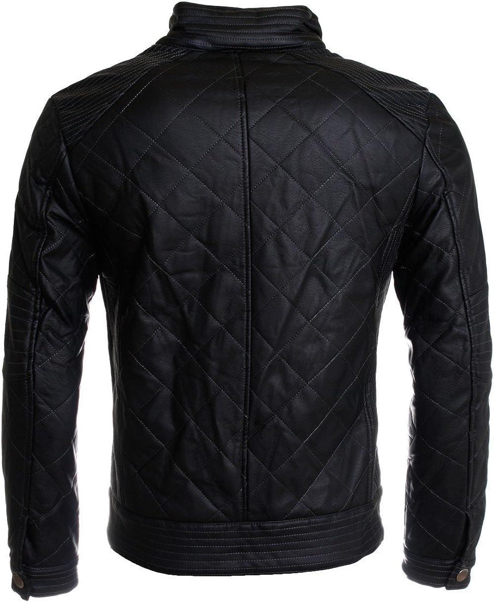 FashionAve London Mens Black Latest Boxed Fashion Real Leather Jacket
