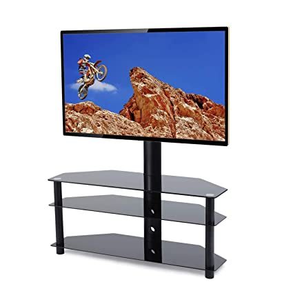Amazon Com Tavr Swivel Floor Tv Stand With Mount 3 In 1 Flat Panel