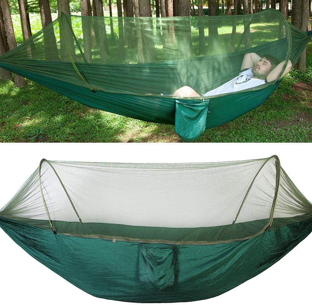 Hinterhof Camping 1# H/ängematten f/ür Reisen Zyyini Camping H/ängematte leichte Nylon Parachute Portable Indoor Outdoor Baumh/ängematte mit 2 h/ängenden Gurten und Moskitonetz