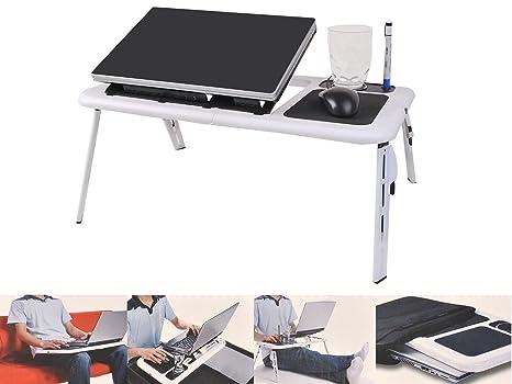 Bandeja de mesa plegable para ordenador portátil escritorio ventilador de refrigeración w/Tablet soporte de