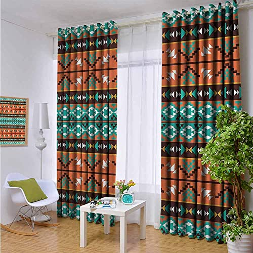KAKKSW Window Curtain Panel,Aztec,Curtain