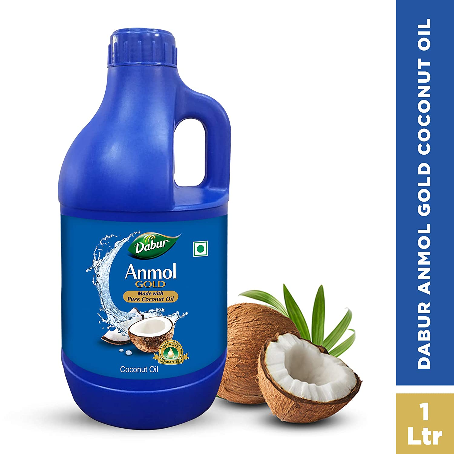 Dabur Anmol Gold 100% Pure Coconut Oil | Improves Skin Metabolism and Boosts Immunity -1L(Pet Jar)