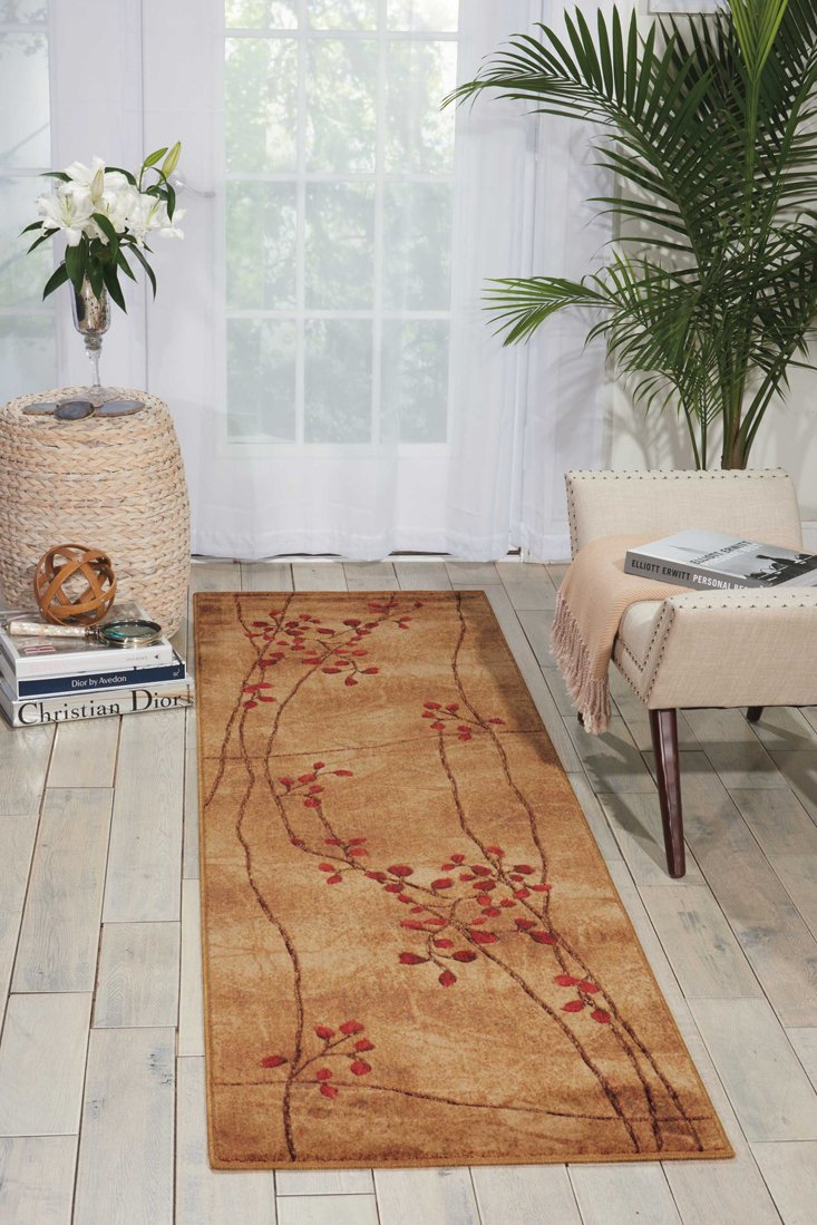 Nourison Somerset (ST74) Latte Round Area Rug, 5-Feet 6-Inches by 5-Feet 6-Inches (5'6'' x 5'6'') by Nourison (Image #2)