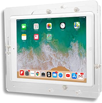 POS Kiosk Store iPad mini 4 Black Acrylic Security Enclosure w Wall Mount Kit