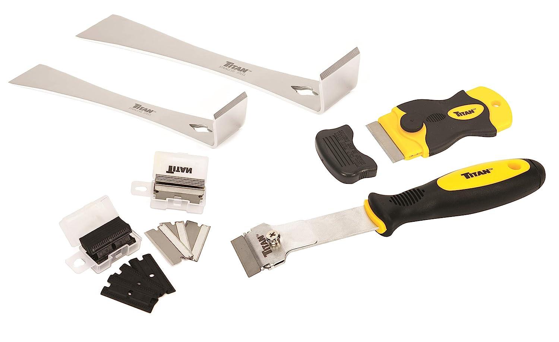 Titan Tools 59400 4-Piece Scraper Set with 42 Replacement Blades