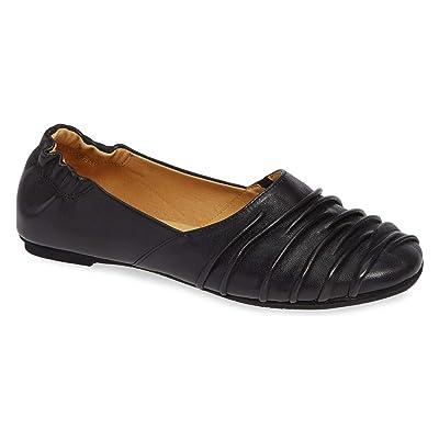 Chocolat Blu Caro Flat - Women's Pleated Leather Shoes   Flats