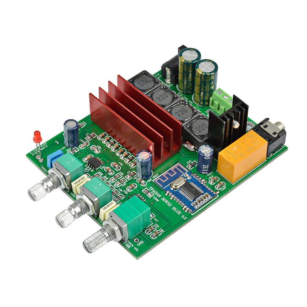AOSHIKE TPA3116D2 2.0 Digital Audio Amplifier Board 50Wx2 Dual Channel Bluetooth 4.2 Amplifier Board DIY Speaker Home Theater by AOSHIKE