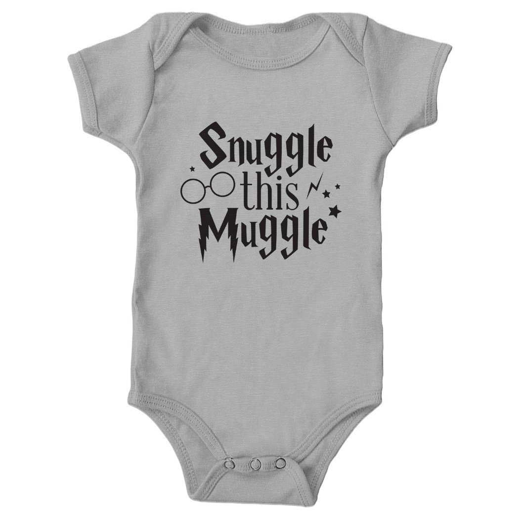 6d84a0da3 Amazon.com: Tickled Teal Snuggle this Muggle Baby Onesie Gray 0-3 months:  Baby