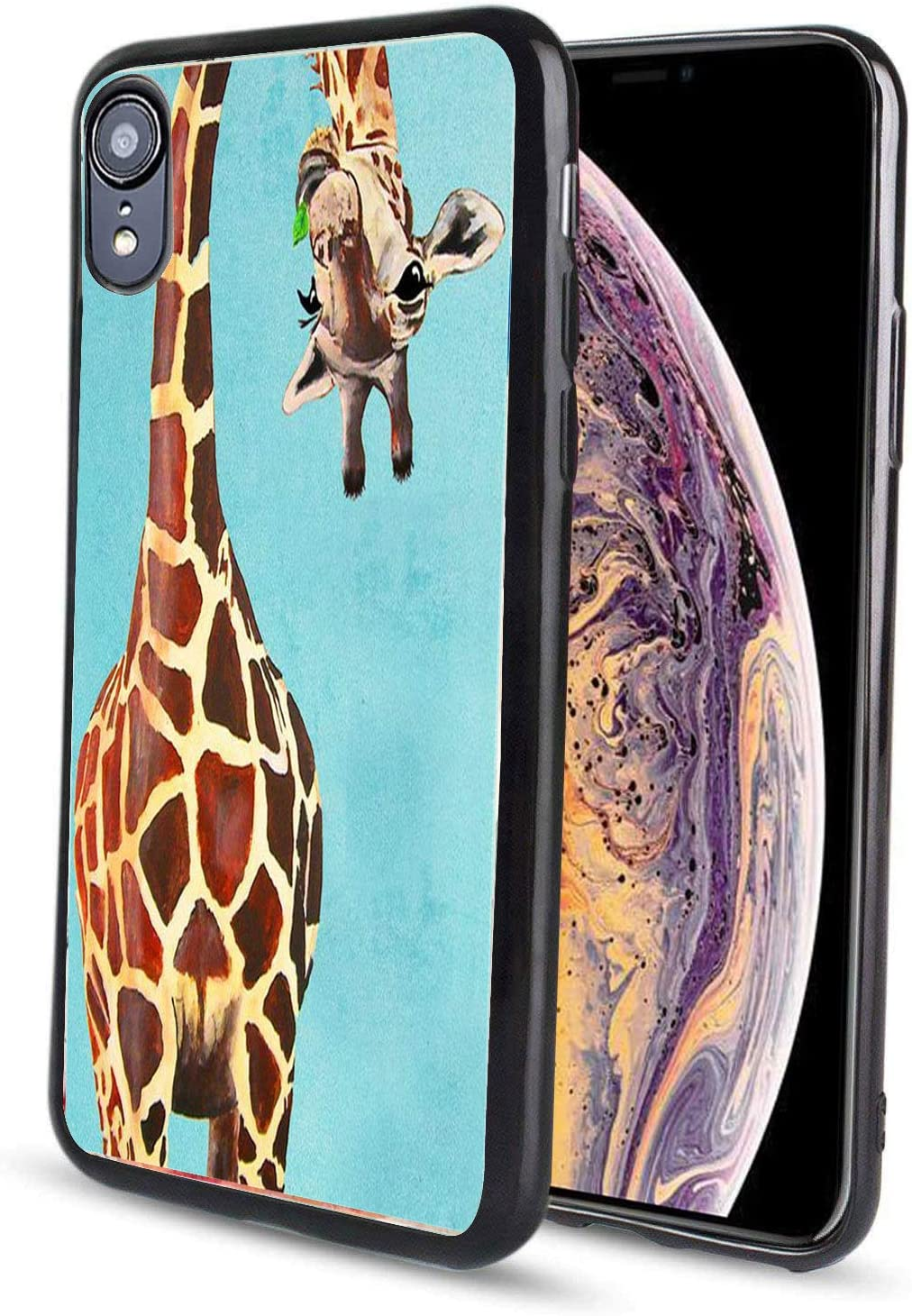 pzicase iPhone XR 6.1 inch Case, Design TPU Soft Silicone Protective Durable Shockproof Case for iPhone XR-Giraffe