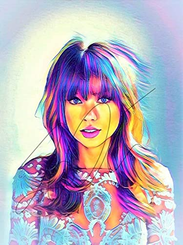 Amazon Com Taylor Swift Abstract Drawing Print Poster Hand