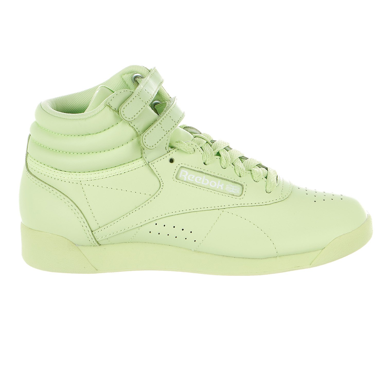 Reebok Women's F/S HI Colors Sneaker, Lime Glow/White, 8 M US