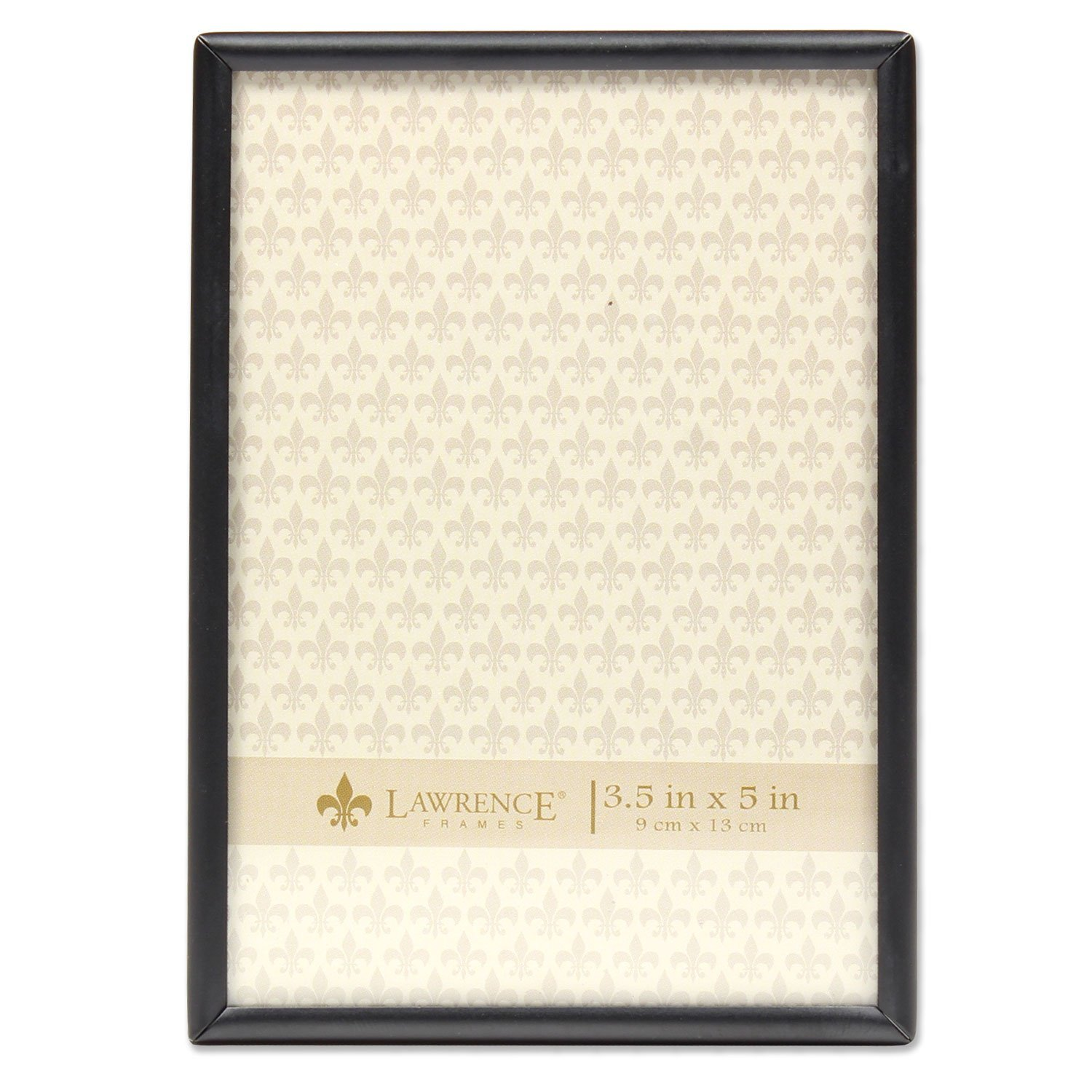 Lawrence Frames 3.5x5 Simply Black Picture Frame