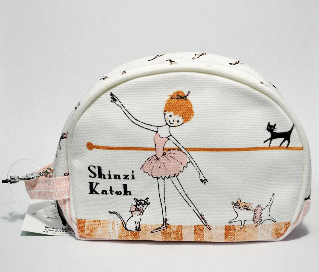 Shinzi Katoh Cheri ballet Design Cotton Cosmetic Bag