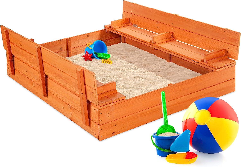 最佳选择产品47x47in儿童大木制沙箱