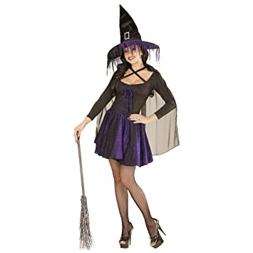 WIDMANN 02362 - Adult Costume Bruja, Top, Falda, Capa y Sombrero ...