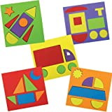 Imagimake Make with Shapes Activity Kit and Puzzle (3 Years +) to Learn Shapes, Sizes and Fine Motor Skills, Vehicle Theme, 8