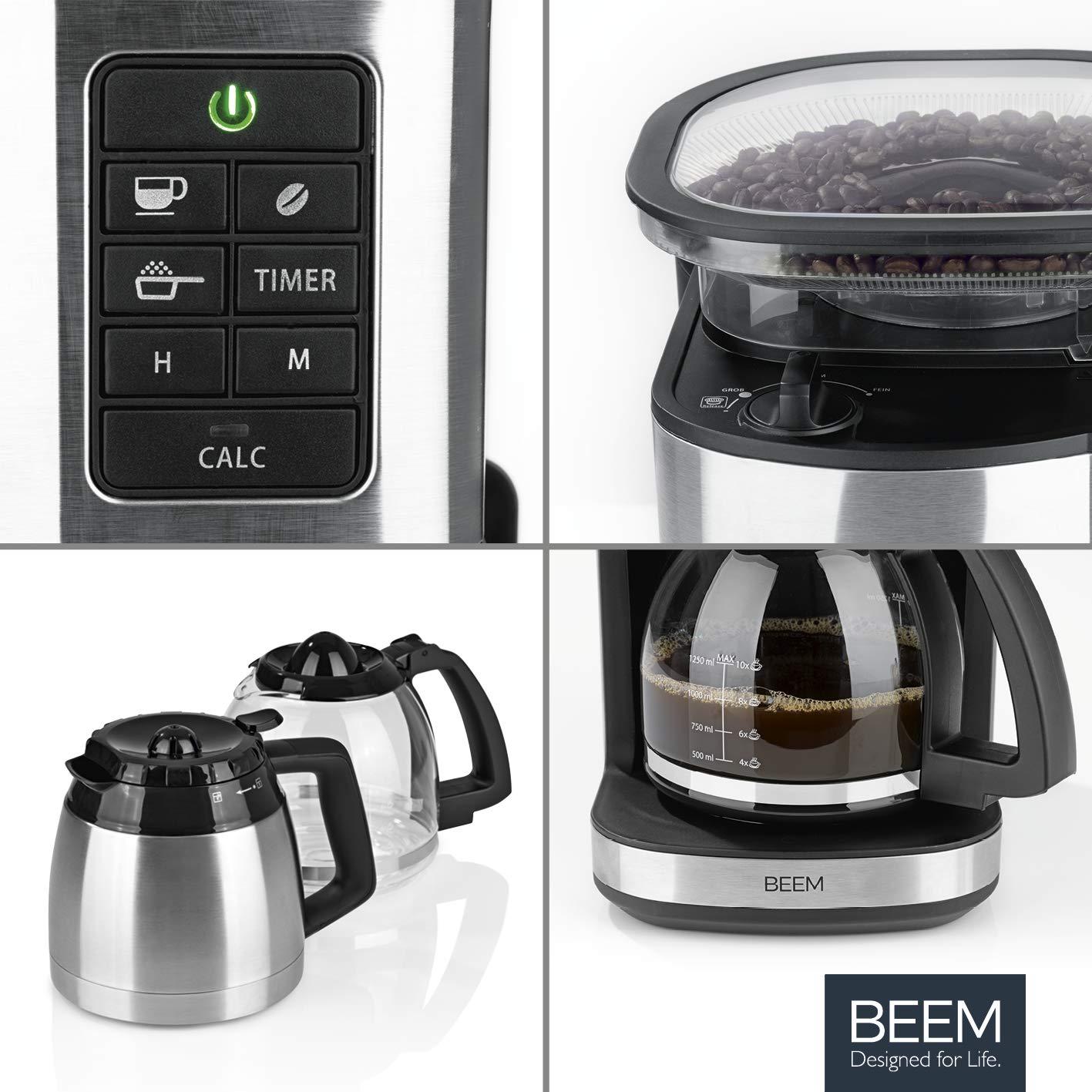 BEEM FRESH-AROMA-PERFECT II Cafetera de filtro con molinillo - Duo ...