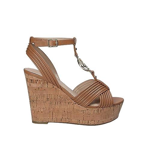 BrownAmazon Flgil1 Lea03 Bags ukShoesamp; co Sandals Guess vyN80PmnwO