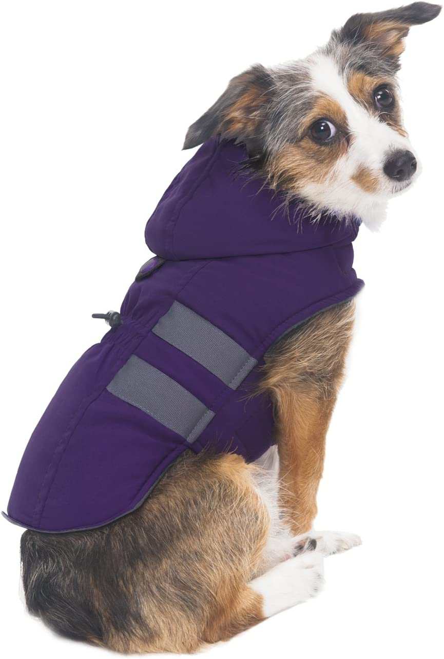 Small Purple Fashion Pet Hooded Parka for Pets