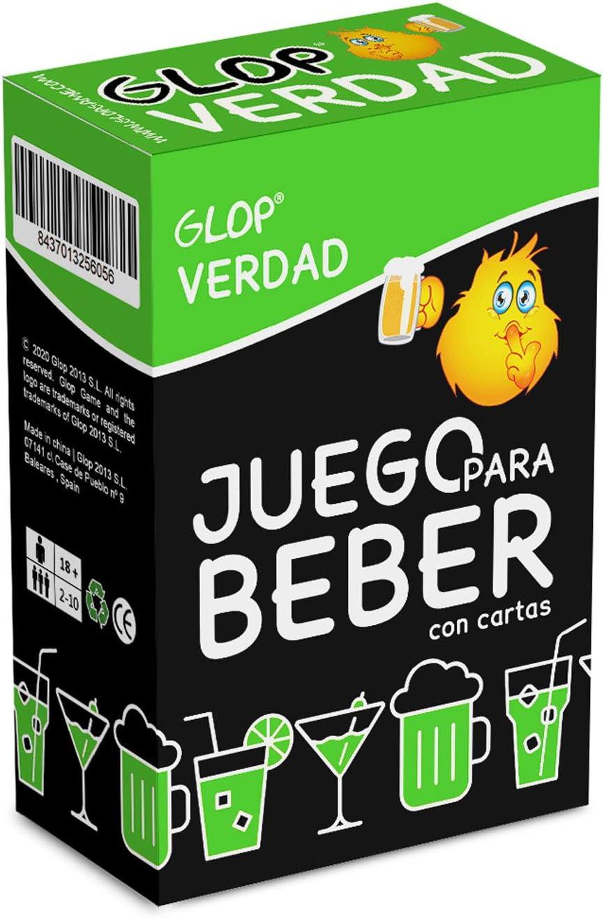 Glop Verdad - Juego para Beber - Juego para Fiestas de Adultos - Juegos de Mesa - 100 Cartas