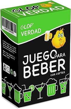 Glop Verdad - Juego para Beber - Juego para Fiestas de Adultos - Juegos de Mesa - 100 Cartas: GLOP GAME: Amazon.es: Juguetes y juegos