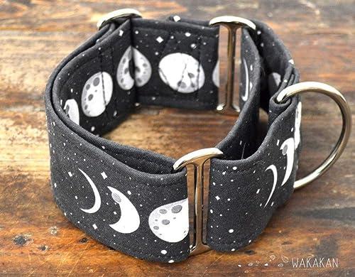 Collar Martingale Para Perro: Moon Phases, Hecho a Mano en España ...