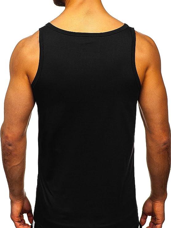 BOLF Herren Tank Top /Ärmellose Tankshirt Muskelshirt Bodybuilding Unterhemd T-Shirt Tee Rundhalsausschnitt Aufdruck Print Training Sport Fitness Slim Fit 3C3