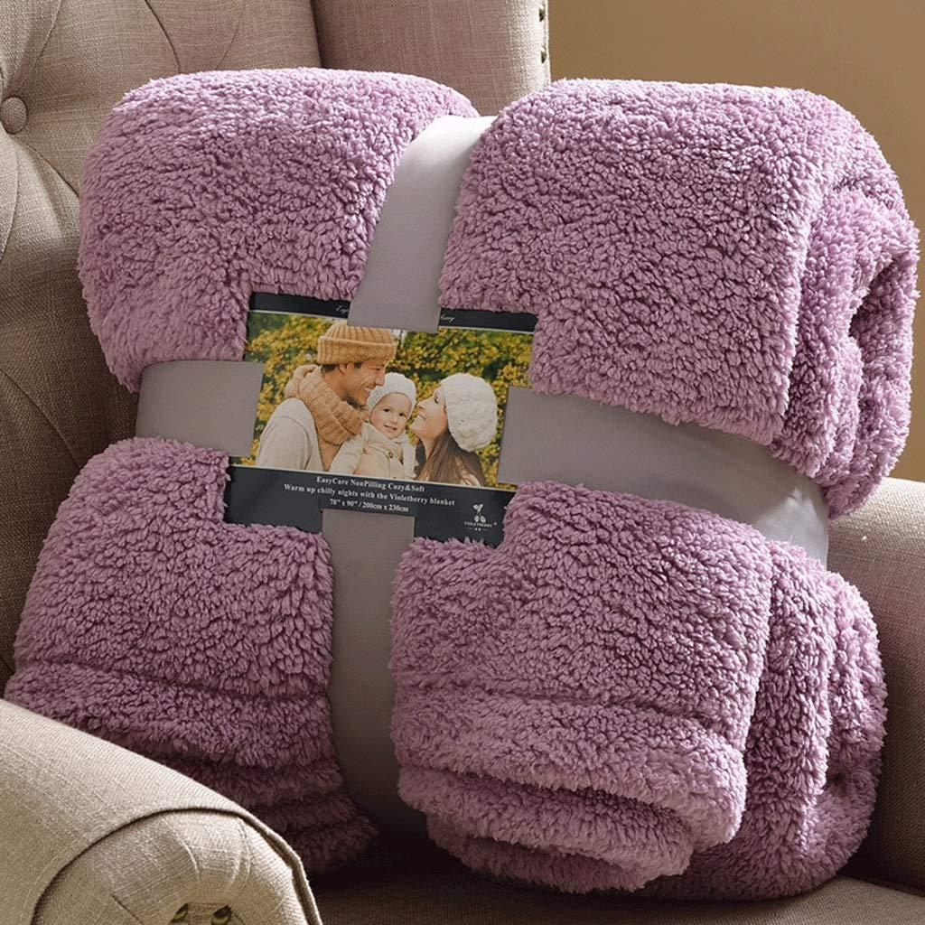 フランネルフリース高級毛布ホワイトツインサイズ軽量居心地の良い豪華なマイクロファイバー固体毛布 (色 : 紫の, サイズ さいず : : 紫の, : 150X200cm) 150X200cm 紫の B07Q27NT2M, イッティ公式:6e657bba --- ijpba.info