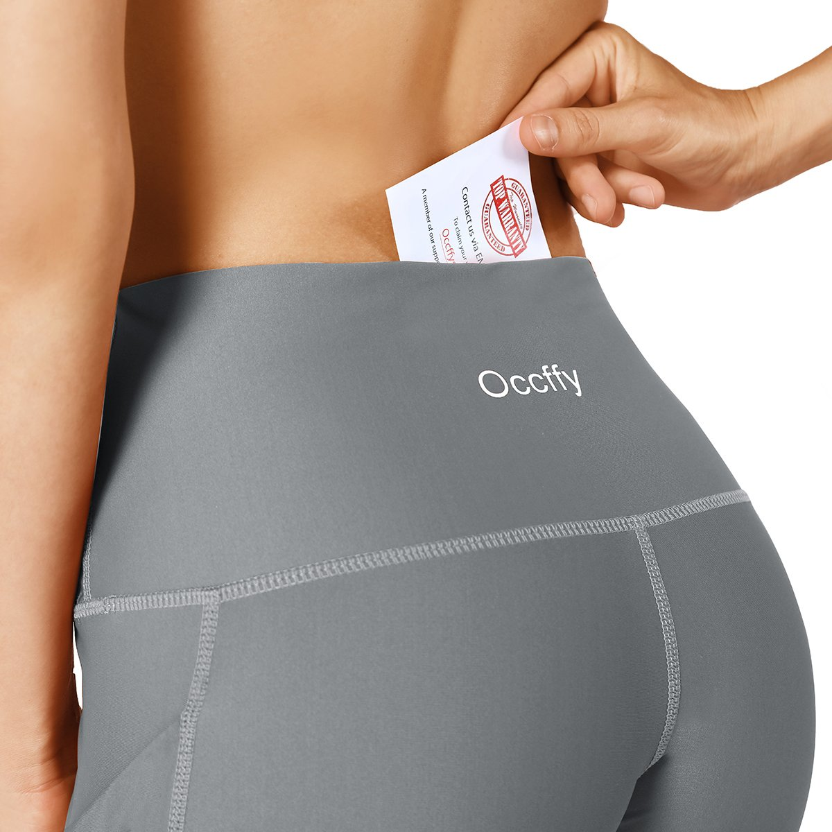 9a981d287d509 Occffy High Waist Out Pocket Yoga Pants for Women Tummy Control Workout  Clothes Ladies Leggings larger image