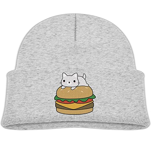 Amazon.com  Beanie Caps Cute Hamburger Cat Soft Knit Hat Baby Girls ... e879eec335ca