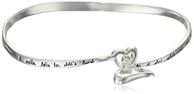 for bangle p toddler infant bracelet or bangles engravable heart sterling silver